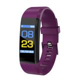 Stuff Certified ® Montre originale pour Smartwatch Smartphone Smartphone Sport ID115 Plus iOS Android pourpre