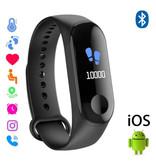 Stuff Certified ® Originele M3 Smartband Sport Smartwatch Smartphone Horloge OLED iOS Android Zwart