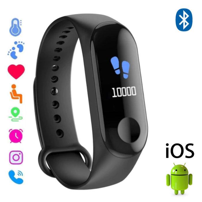 Stuff Certified ® Montre d'origine M3 Smartband Sport Smartwatch Smartphone OLED iOS Android Noir