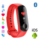 Stuff Certified ® Montre d'origine M3 Smartband Sport Smartwatch Smartphone OLED iOS Android Rouge