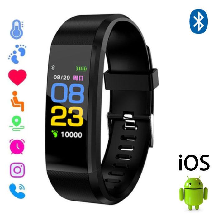 Stuff Certified ® Montre d'origine pour Android ID115 Plus Smartband Sport Smartwatch Smartphone iOS Android Noir