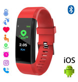 Stuff Certified ® Originele ID115 Plus Smartband Sport Smartwatch Smartphone Horloge iOS Android Rood