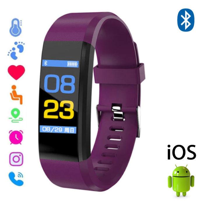 Stuff Certified ® Originele ID115 Plus Smartband Sport Smartwatch Smartphone Horloge iOS Android Paars