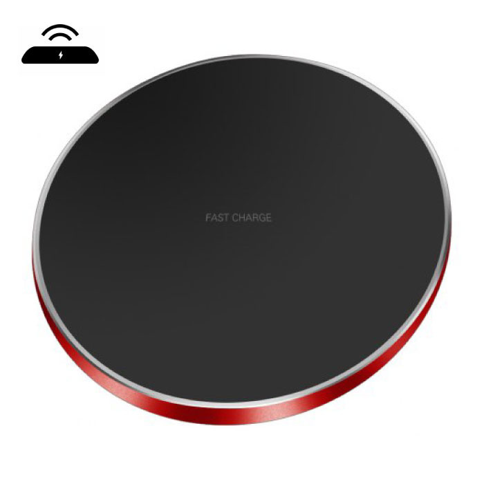 Qi GY-68 Universele Draadloze Oplader 9V - 1.67A Wireless Charging Pad Rood