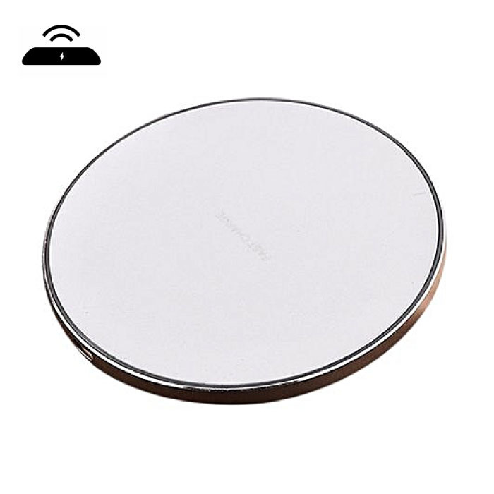 Qi GY-68 Universele Draadloze Oplader 9V - 1.67A Wireless Charging Pad Goud