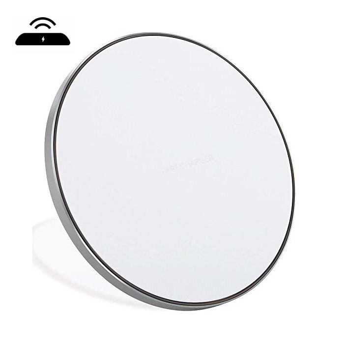 Qi GY-68 Universele Draadloze Oplader 9V - 1.67A Wireless Charging Pad Zilver