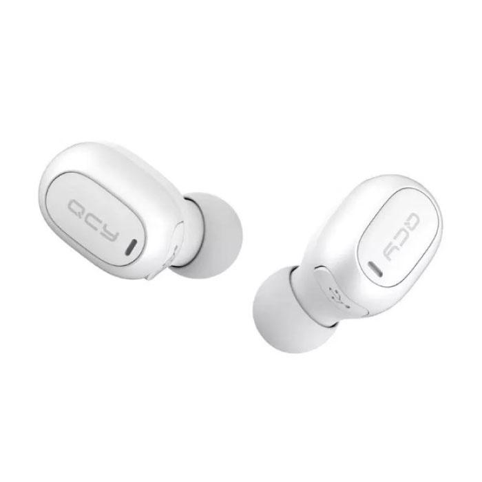 Stuff Certified ® QCY T1C Écouteurs Bluetooth 5.0 sans fil Air Pods sans fil Écouteurs Écouteurs Blanc - Son clair
