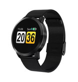 Stuff Certified® Original Q8 Smartband Fitness Sport Activity Tracker Smartwatch Smartphone Watch OLED iOS Android iPhone Samsung Huawei Black Metal