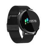 Stuff Certified ® Original Q8 Smartband Sport Smartwatch Smartphone Watch OLED iOS Android Black Metal