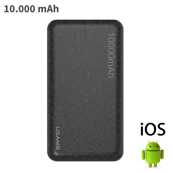 Mosaic External 10,000mAh Powerbank Emergency Battery Charger Charger Black