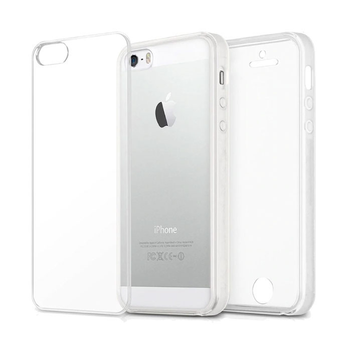 iPhone 5S Full Body 360° Transparant TPU Silicone Hoesje + PET Screenprotector