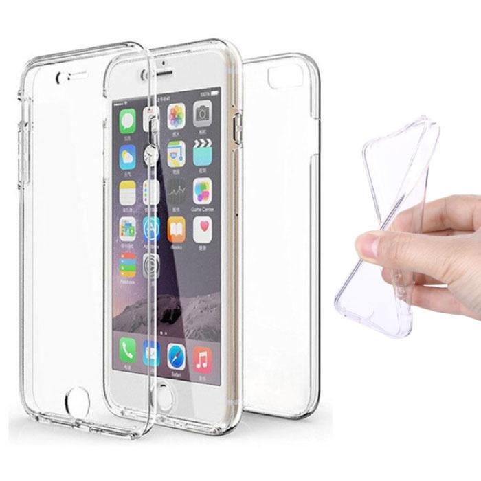 Coque en silicone TPU transparente à 360 ° pour iPhone 6 + protecteur d'écran en PET