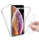 Stuff Certified® Coque en silicone TPU transparente 360 ° pour iPhone X Full Body + protecteur d'écran en PET