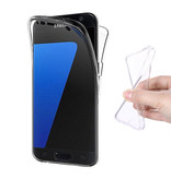 Stuff Certified® Samsung Galaxy S7 bord Full Body 360 ¡ Transparente Housse en silicone TPU + PET Film de protection écran