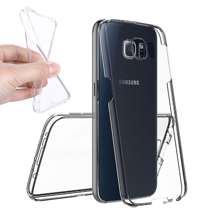 Samsung Galaxy S8 Plus Full Body 360 ° Transparent TPU Silicone Case + PET Screen Protector