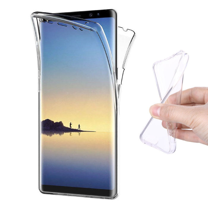 Samsung Galaxy Note 8 Full Body 360 ° Transparent TPU Silicone Case + PET Screen Protector