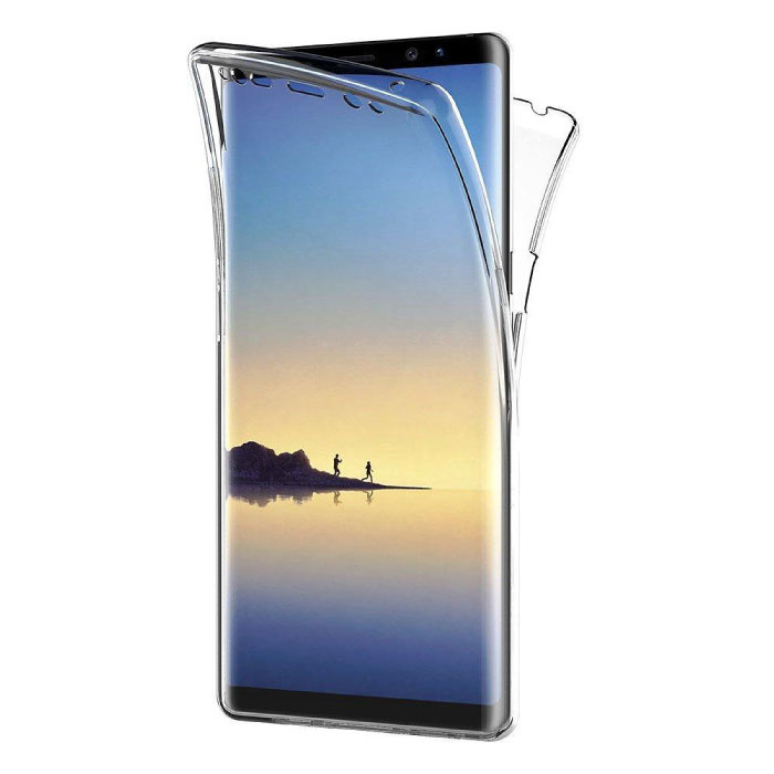 Stuff Certified® Samsung Galaxy Note 8 Full Body 360 Transparent TPU silicone + PET Screen Protector