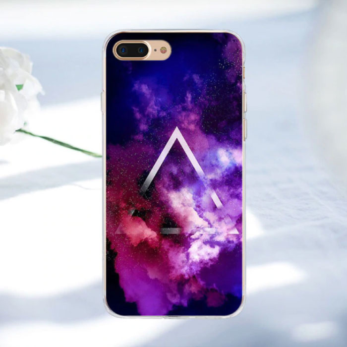 iPhone 8 Plus - Space Star Case Cover Cas Soft TPU Hoesje