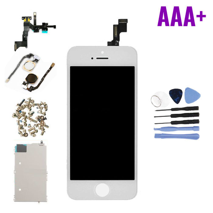 iPhone 5S Voorgemonteerd Scherm (Touchscreen + LCD + Onderdelen) AAA+ Kwaliteit - Wit + Gereedschap