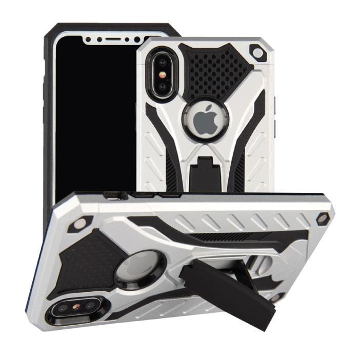 Stuff Certified ® iPhone 5S - Etui blindé militaire Housse Cas en TPU noir + béquille
