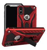 Stuff Certified ® iPhone 6 - Cas d'armure militaire Housse Cas TPU noir + béquille