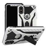 Stuff Certified ® iPhone 6S - Etui blindé militaire Housse Cas en TPU noir + béquille