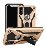 Stuff Certified ® iPhone 8 - Military Armor Case Cover Cas TPU Case Black + Kickstand