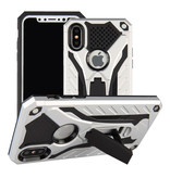 Stuff Certified ® iPhone 8 Plus - Etui blindé militaire Housse Cas TPU noir + béquille
