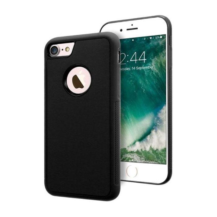 Stuff Certified ® iPhone 8 Plus - Anti Gravity Absorption Case Cover Cas Case Black