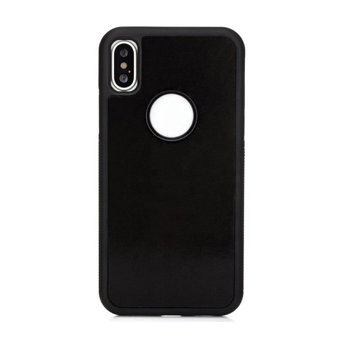 iPhone XS - Anti Gravity Absorption Case Cover Cas Hoesje Zwart