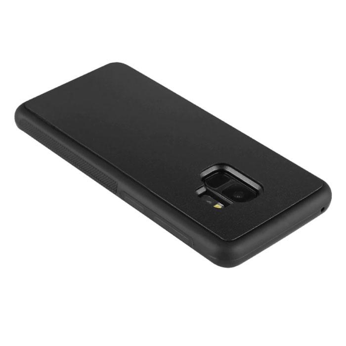 Stuff Certified® Samsung Galaxy S6 Edge - Coque Absorption Anti Gravity Noire