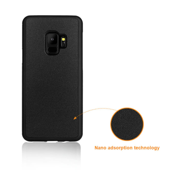 Stuff Certified ® Samsung Galaxy S9 Plus - Coque Absorption Anti Gravity Noire