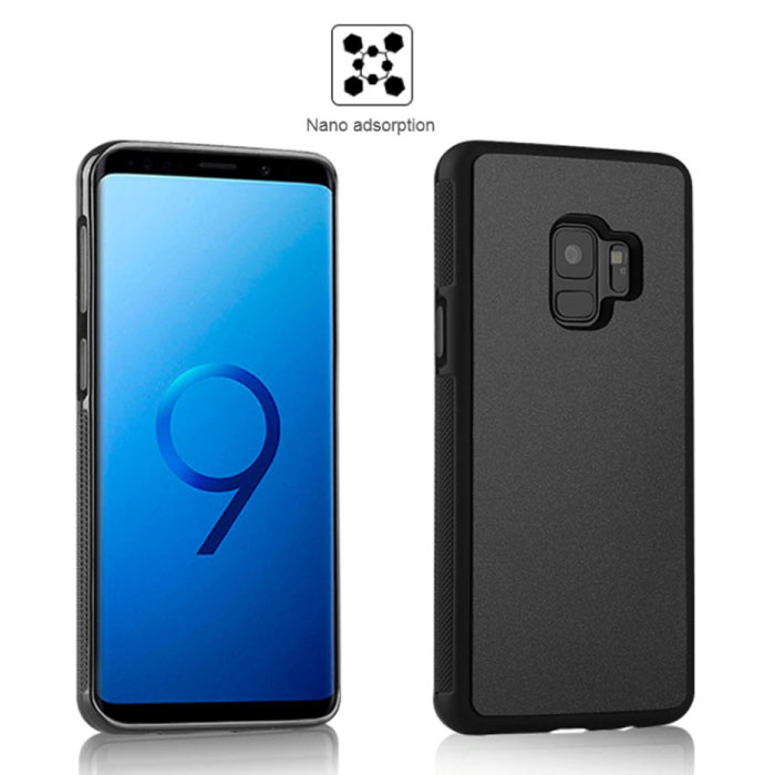Samsung Galaxy S10 Plus - Anti Gravity Absorption Case Cover Cas Hoesje Zwart
