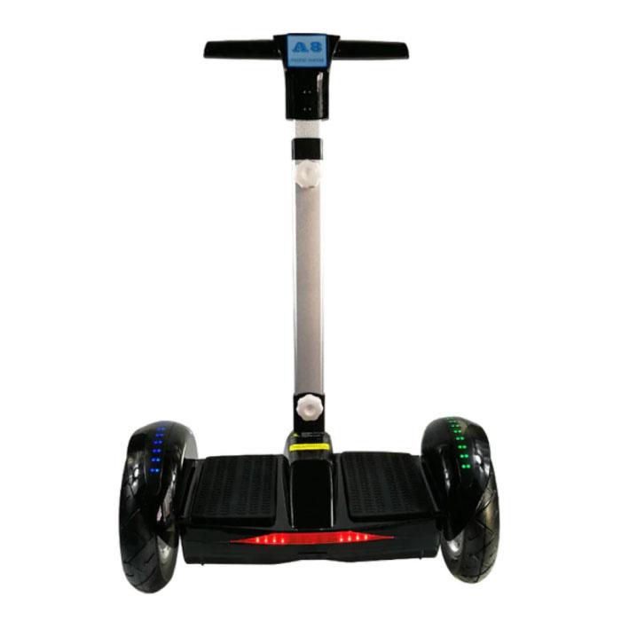 """Elektrisches E-Scooter-Hoverboard mit Griff - 10,5 """"- 350 W - 4,4 Ah Samsung-Akku - Schwarz"""
