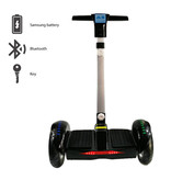 """FLJ Hoverboard Scooter électrique avec poignée - 10.5 """"- 350W - 4.4 Ah Batterie Samsung - Noir"""