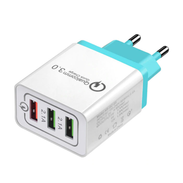 Qualcomm Chargeur mural pour chargeur mural iPhone / Android 3.0 à charge triple (3x) Quick Charge 3.0 Wallcharger Sky