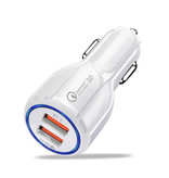 Stuff Certified® Qualcomm Charge rapide 3.0 Dual Port chargeur de voiture / Carcharger - Blanc