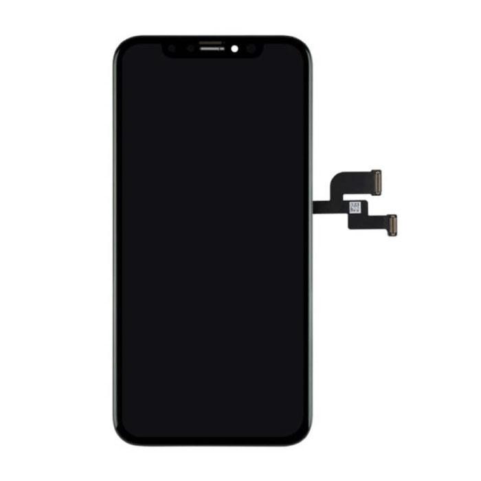 iPhone XS Bildschirm (Touchscreen + OLED + Teile) AA + Qualität - Schwarz