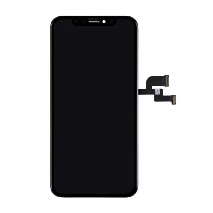iPhone XS Scherm (Touchscreen + OLED + Onderdelen) AA+ Kwaliteit - Zwart