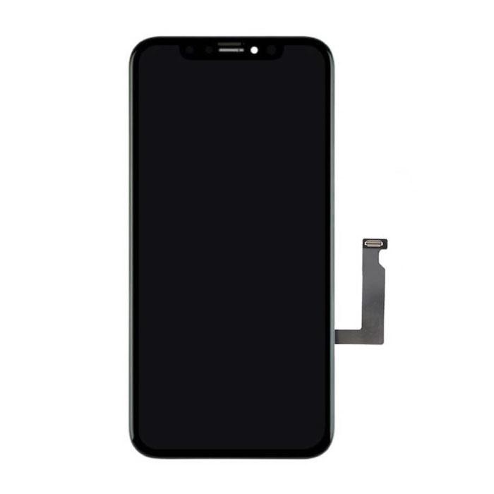 iPhone XR-Bildschirm (Touchscreen + LCD + Teile) AA + Qualität - Schwarz