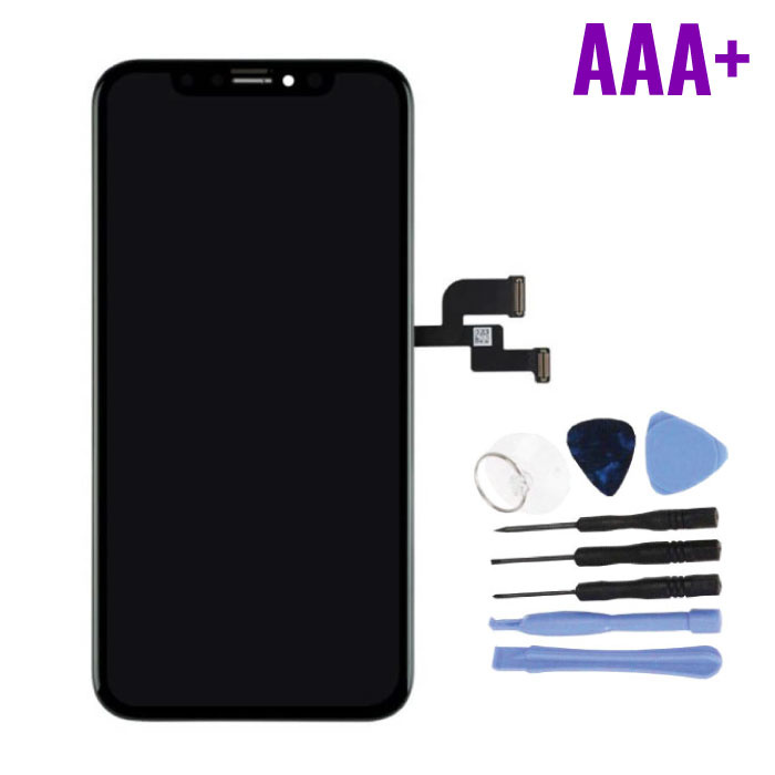 iPhone XS Screen (Touchscreen + OLED + Parts) AAA + Quality - Black + Tools