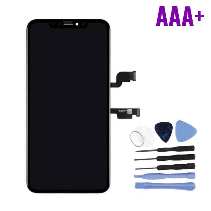 iPhone XS Max Scherm (Touchscreen + OLED + Onderdelen) AAA+ Kwaliteit - Zwart + Gereedschap