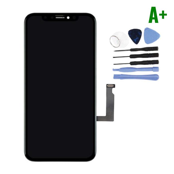 iPhone XR Scherm (Touchscreen + LCD + Onderdelen) A+ Kwaliteit - Zwart + Gereedschap