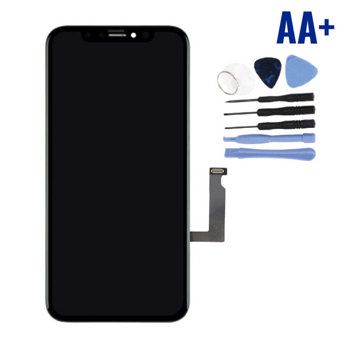 iPhone XR Screen (Touchscreen + LCD + Parts) AA + Quality - Black + Tools