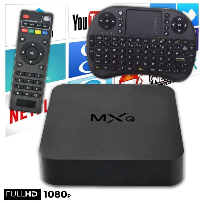 Stuff Certified ® MXQ HD TV Box Mediaspeler Android Kodi - 1GB RAM - 2GB Opslagruimte + Draadloos Toetsenbord