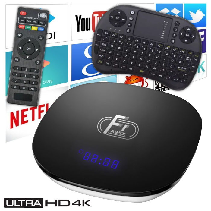 F1 A95X 4K TV Box Media Player Android Kodi - 2GB RAM - 16GB Storage - Copy