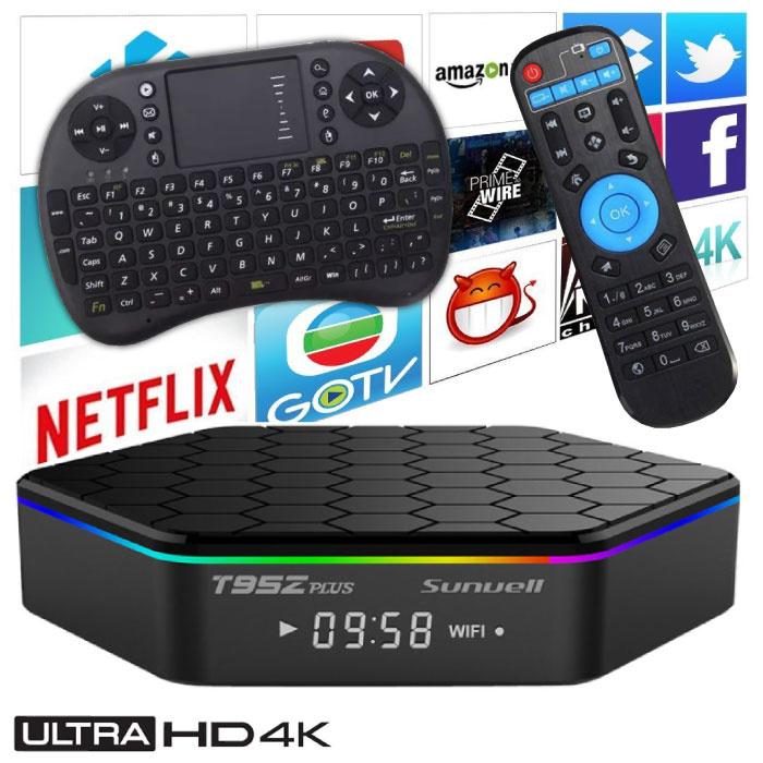 T95Z Plus 4K TV Box Mediaspeler Android 7.1 Kodi - 3GB RAM - 32GB Opslagruimte + Draadloos Toetsenbord
