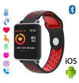COLMI Land 1 Smartwatch Smartband Smartphone Fitness Sport Activity Tracker Horloge OLED iOS Android Rood Two-Tone Bandje