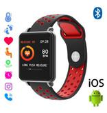 COLMI Land 1 Smartwatch Smartband Smartphone Horloge OLED iOS Android Rood Two-Tone Bandje