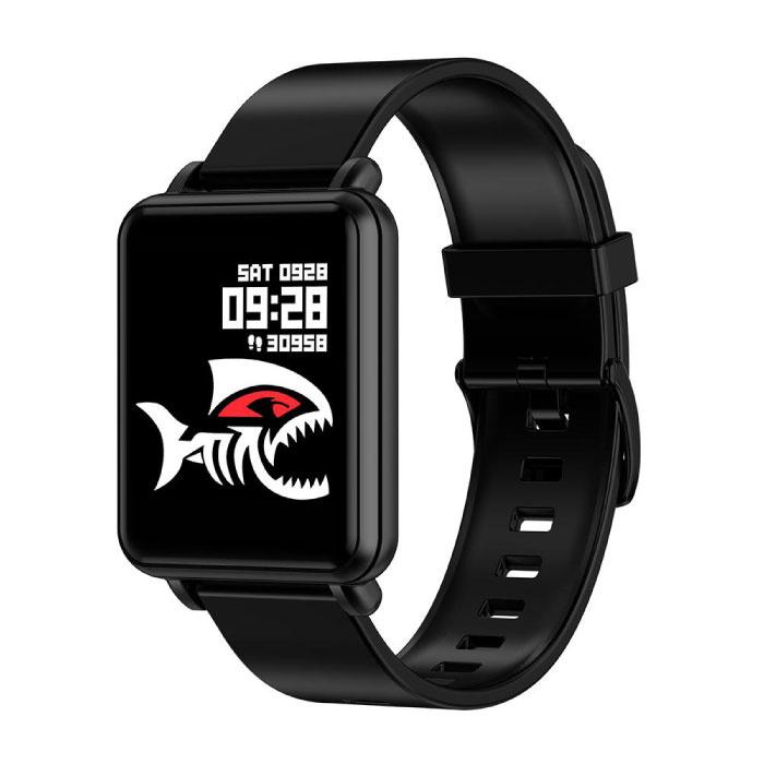 Land 1 Smartwatch Smartband Smartphone Fitness Sport Aktivität Tracker Uhr OLED iOS Android iPhone Samsung Huawei Schwarzes Silikonband